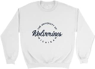 Official NCAA University of Michigan Wolverines - RYLPST04 Mens/Womens Boyfriend Sweatshirt