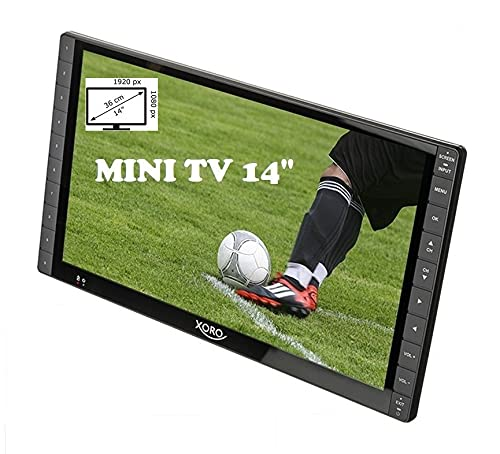 Televisore portatile LED 14' FULL HD XORO PTL 1400 DVB-T2 H.265/HEVC 10 bit