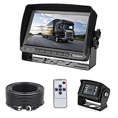 Backup Camera System Kit for RV Van Camper Box Truck, IP69 Waterproof 175º Wide View Angle & 7 inch LCD Adjusting Monitor for Front and Reversing (CW-BUS-70)