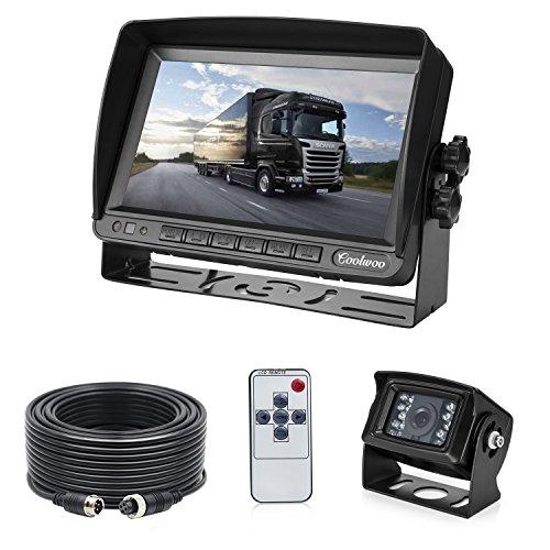 "7\"" TFT LCD KFZ Monitor+ 18 IR LED Rückfahrkamera mit IP67 & Nachtsicht, inkl. 20 Meter Anschlusskabel (12-24 Volt)"