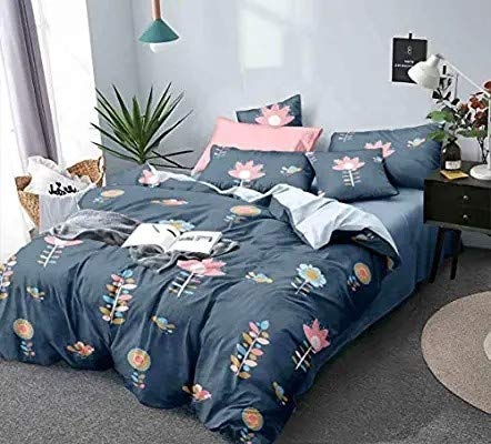Fablicious Reversible AC Comforter Set King Size with Double Bed Sheet and 2 Pillow Covers