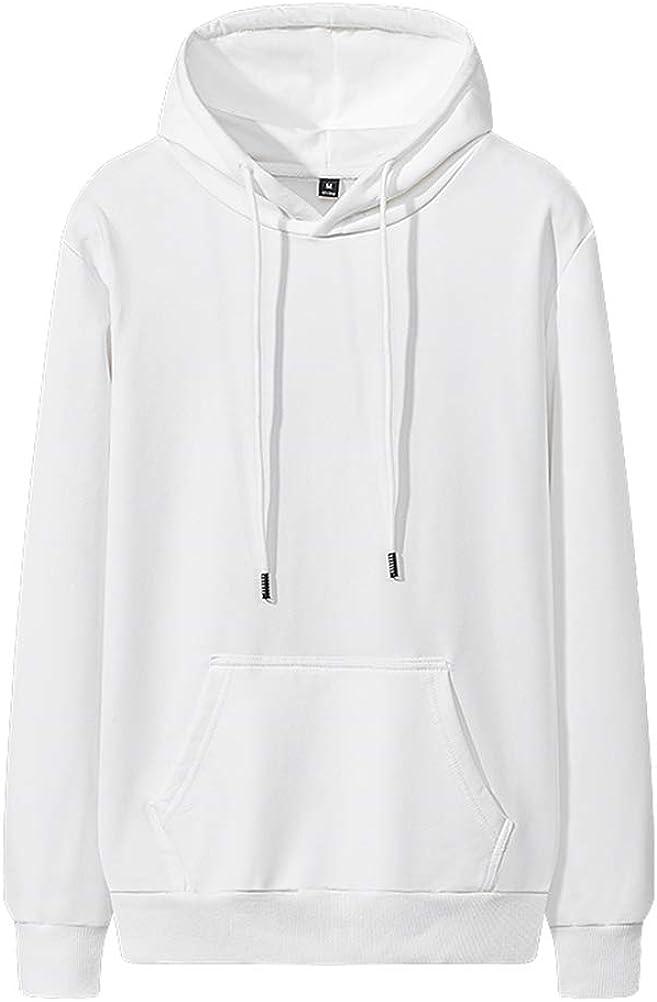 GUNLIRE Big Boy's Hoodies Sweatshirt Long Sleeved Solid Color Cotton Fashion Hooded Pullover with Kanga Pocket