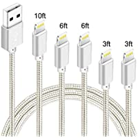 5-Pack BCXY Nylon Braided Charging Cord Charger
