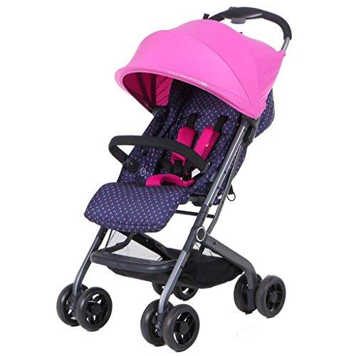 El carro de bebé puede sentarse paraguas horizontal portátil plegable recién nacido...