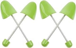 قابل للتعديل البلاستيك الربيع الحفاظ على شكل شجرة حذاء للنساء، حزمة من زوجين (للنساء، أخضر)