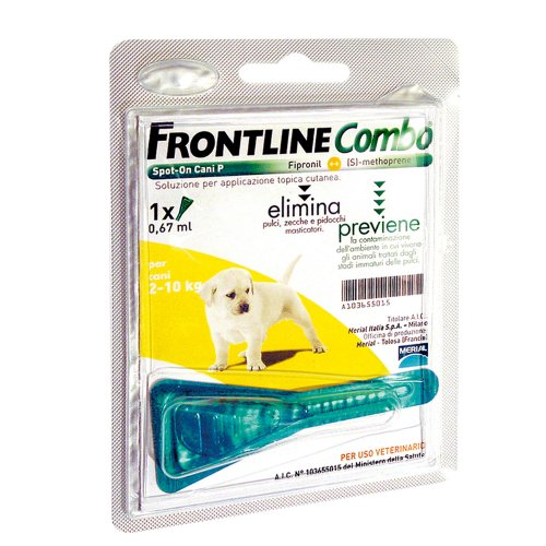 ANTIPARASSITARIO FRONTLINE COMBO 1 DOSE CANE CUCCIOLO 2-10 KG SPOT ON ANTIPULCI