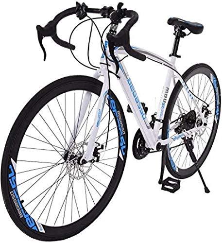Bicicleta de carretera de aluminio Bicicletas de carretera de 26 pulgadas Bicicleta de carretera de suspensión completa de aluminio ligero y duradero Frenos de disco de 21 velocidades Neumático 700c