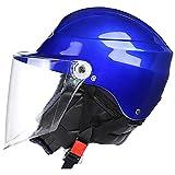 Ecloud Shop®Visiera per bicicletta frontale Flip up Casco invernale bicicletta con parasole per uomo e donna Casco per auto elettrica, casco da bicicletta (blu)
