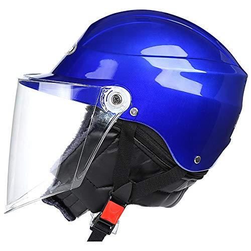 Ecloud Shop® Visor de Bicicleta frontal Levante el casco de invierno modular con protector solar para hombres y mujeres Casco de automóvil eléctrico, casco de bicicleta (azul)