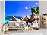 Fotomural Vinilo para Pared Playa Tropical | Fotomural para Paredes | Mural | Vinilo Decorativo | Varias Medidas 350 x 250 cm | Decoración comedores, Salones, Habitaciones.