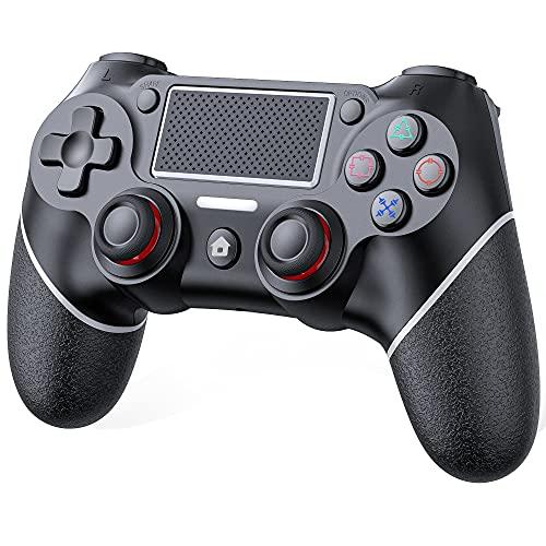 GESMA PS4 コントローラー [2021最新] 600mAH大容量電池 最新バージョン ワイヤレス接続 TURBO連射機能付き リンク遅延なし ジャイロセンサー機能 イヤホンジャックあり PS4/PS4 Slim/PS4 Pro対応 二重振動 高耐久ボタン 日本語取扱説明書付属