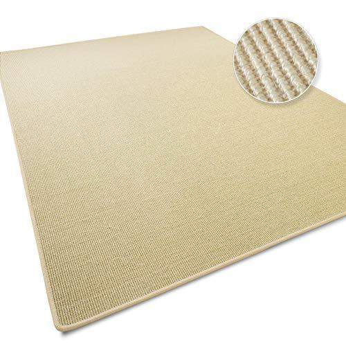 Sisal Teppich in zahlreichen Größen | Qualitätsprodukt aus Deutschland | Naturfaser | für Wohnzimmer, Flur etc. | Ivory / Creme (200x300 cm)