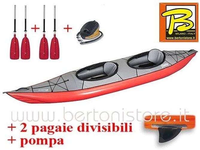 Gumotex Swing 2Rouge Kayak gonflable avec palme + Pompe + 2Pagaie sécables 043911-r (5C 11C)