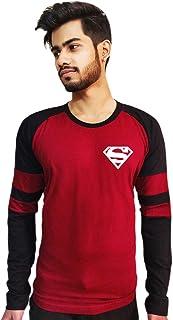 CupidStore Super Hero Full Sleeves T Shirts - Superman Logo Cotton Full-Sleeves Tshirt for Mens