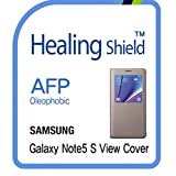 Healingshield スキンシール液晶保護フィルム Oleophobic AFP Clear Film for Samsung Mobile Galaxy Note5 S View Cover [2pcs]