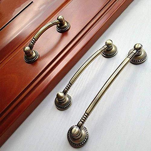 FICI Vintage dressoir lade trekt handgrepen knoppen antieke brons rustieke keuken kast deur handvat Pull hardware