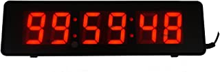 BTBSIGN 2inch 6Digits Wall Clock LED Countdown Timer for Time Escape School Speech