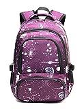 Girls Backpack for Teens Elementary School Bags LightweightMiddle School Bookbags (Purple)