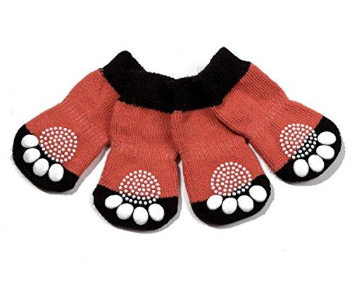 Pet Heroic 6 tamaños Calcetines Antideslizantes para Perros Gatos, Protectores de Patas para Perros Gatos, Control de tracción para el Uso en Interiores, Ajuste para Perros Tamaño mediana y grande