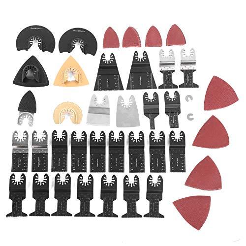 Kit de accesorios oscilantes de 72 piezas, kit de hoja de sierra oscilante, hojas de sierra multiherramienta oscilantes de madera de metal, accesorios de herramientas múltiples para cortar mármol en m