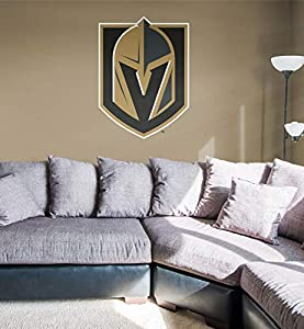 FATHEAD NHL Vegas Golden Knights - Logo- Officially Licensed Removable Wall Decal, Multicolor, Giant - 64-64542 from Fathead