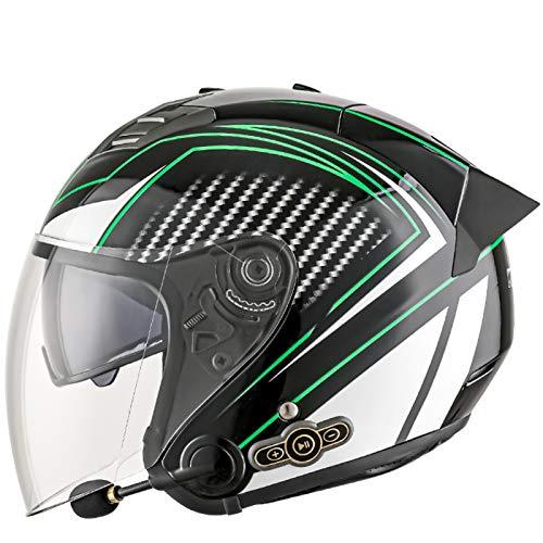 Casco Moto Bluetooth Integrado Capacidad De BateríA De 3000 MAh Con Visera Solar Doble Casco Moto Modular Con MicróFono Con CancelacióN De Ruido Con Cola Extendida