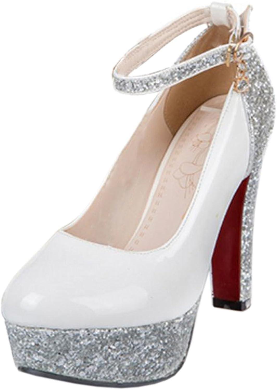 TAOFFEN Women's Fashion Party High Heel Court shoes