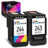 ColoWorld Remanufactured Ink Cartridge Replacement for Canon PG-243 CL-244 PG-245XL CL-246XL Combo Pack (1 Black,1 Color) for Pixma TS3122 MX490 MX492 TR4522 TR4520 MG2522 MG2922 MG2520 TS3322 Printer