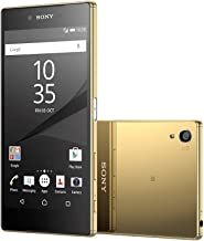 Sony Xperia Z5 Premium E6853 Factory Unlocked Phone, 5.5-Inch 4K UHD Display, Gold International Version