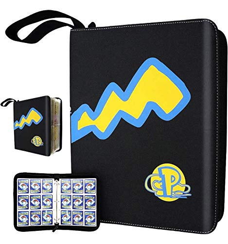Trading Card Holder Album, Carrying Case Binder 9-Pocket Sleeves Protectors Double-Sided Pages, Holds Up to 720 Cards for Card Collectors, 13x11 inches