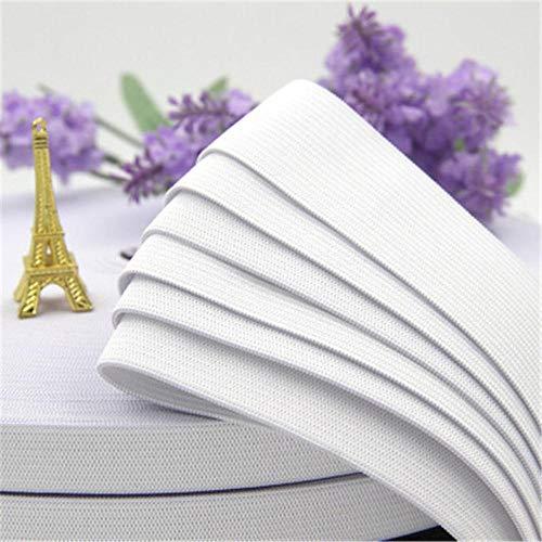 0.8-5cm dikker zwart wit elastisch lint rubberen band diy naaien broek taille elastische riemen kleding accessoires c6-13, wit, 60mm