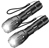 LED Flashlight, iBester 1600 Lumens CREE XML-T6 Flashlights, Portable, Zoomable, 5 Modes, Water Resistant