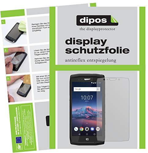 dipos I 2X Schutzfolie matt kompatibel mit Crosscall Trekker X4 Folie Bildschirmschutzfolie