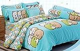 Cute Sumikko Gurashi Official Licensed Bedding Set 057 (Blue, Twin Bed Sheet Set + Comforter (Set A+1))