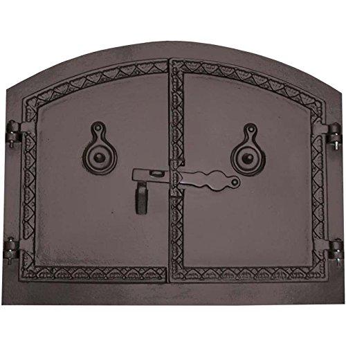 Fonderie Lacoste 0361 Porte de Four, Noir, 53,5 x 4 x 43 cm