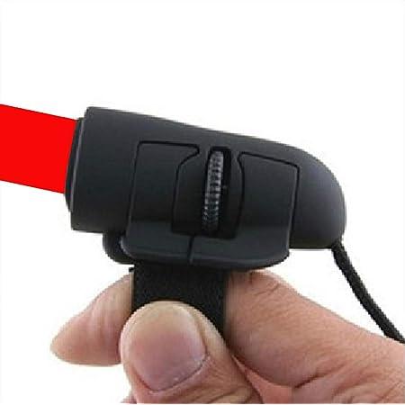 【Liroyal】1200DPIミニ 光学式 USBフィンガーマウス・指マウス Windows&Mac対応パソコンマウス (ブラック)