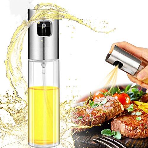 WLL Pulverizador ecológico de Aceite de Oliva de Acero Inoxidable, Botella de Spray de Vidrio versátil para Aceite, para Barbacoa, Hacer Ensalada, cocinar, Hornear, Asar, Asar a la Parrilla