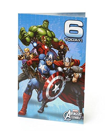 Carlton 487214–0–2,5cm Disney Marvel Avengers Age 15,2cm Geburtstagskarte
