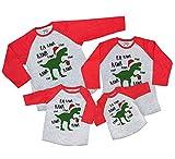 7 ate 9 Apparel Matching Family Christmas Shirts - Christmas Dinosaur Red Shirt 3T