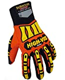 Seibertron High-Vis Impact Reducing Gloves Heavy Duty Work Safety Gloves L