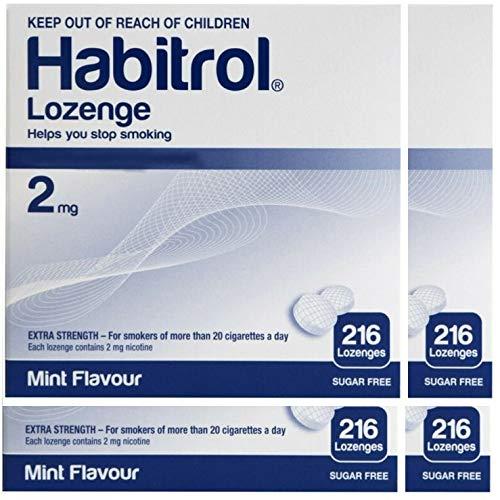 Habitrol Nicotine Lozenge 2mg Mint Flavor. 4 Packs of 216 Lozenges (Total 864)