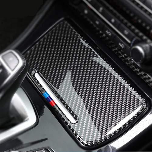 vitesurz Interior de Fibra de Carbono Pegatina para Coche cenicero Caja de Almacenamiento Panel Cubierta Cenicero calcomanía para Coche Pegatinas para Coche, para BMW F10 2011-2017