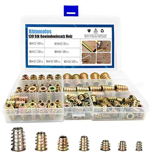 Rhinmofos - Juego de herramientas para madera (130 unidades)