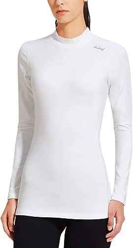 BALEAF Women's Fleece Thermal Mock Neck Long Sleeve Running Shirt Workout Tops