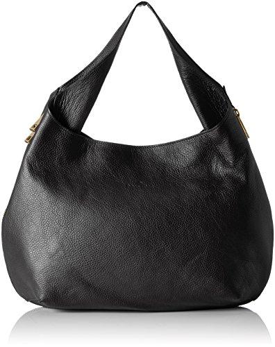 Bags4Less Damen Ronin Umhängetasche, Schwarz (Schwarz), 14x30x43 cm