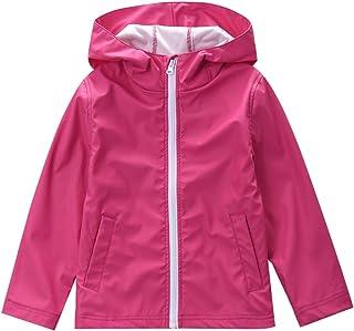 M2C Girls Hooded Waterproof Rain Jacket Lightweight Raincoat 8/9 Rose