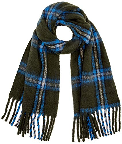 ONLY Damen ONLJONNY LIFE BIG CHECK WOVEN SCARF Mode-Schal, Forest Night, ONE SIZE