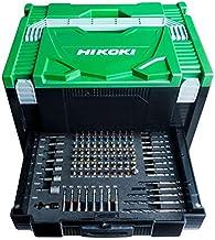 HIKOKI 40030037 Hit System Case met 100 TLG transportkoffer met 100-delige accessoires, groen zwart, 295x395x250 mm