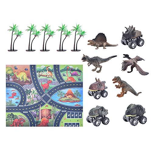 jingjing 2021 Nuevo regalo – 12 piezas de simulación modelo de escena de animales marinos, juego de mapa de dinosaurios (D)