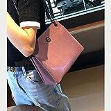 GHJL Cuero Genuino Mujer Cadena Bolsos De Hombro Totalizador Manija Superior Satchel Bolsos Hombro Bolso Totalizador (Color : Pink)